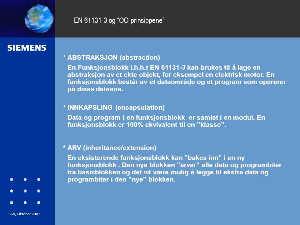 EN 61131-3 og OO prinsippene