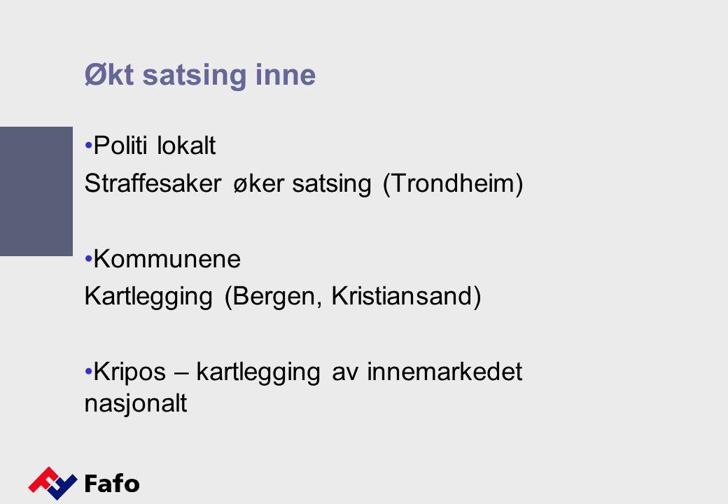 Økt satsing inne Politi lokalt Straffesaker øker satsing (Trondheim)