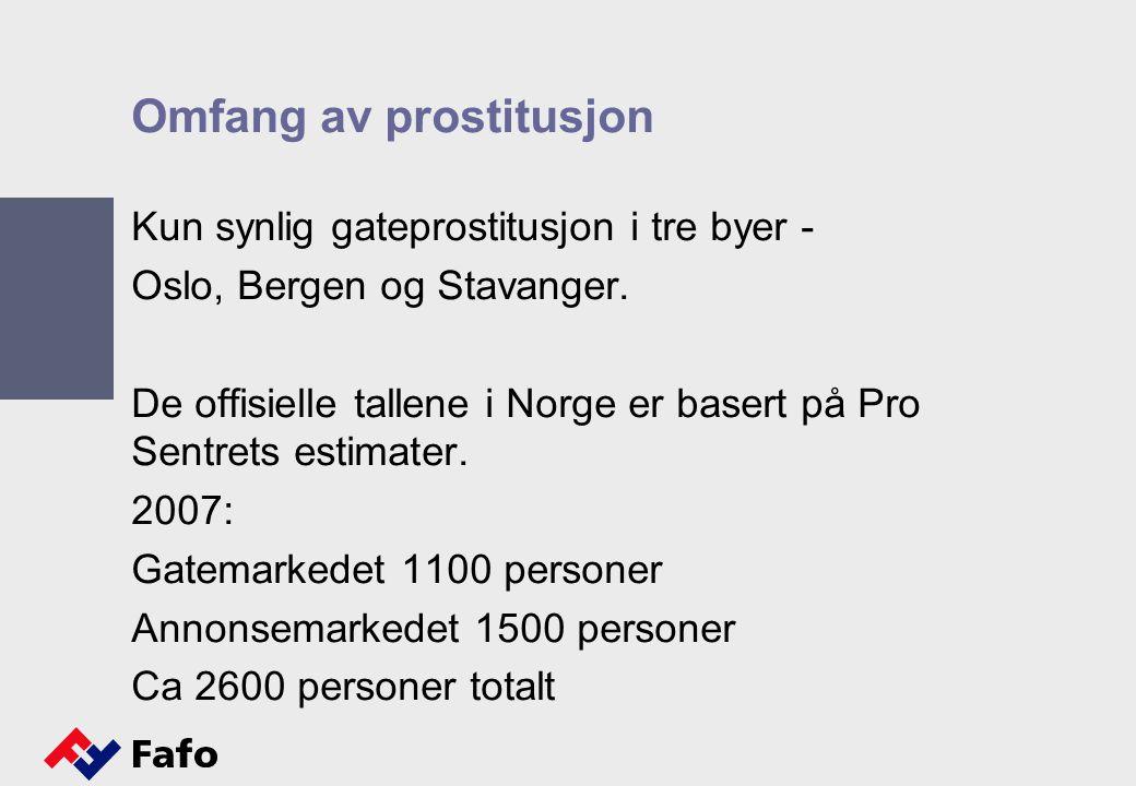 Omfang av prostitusjon