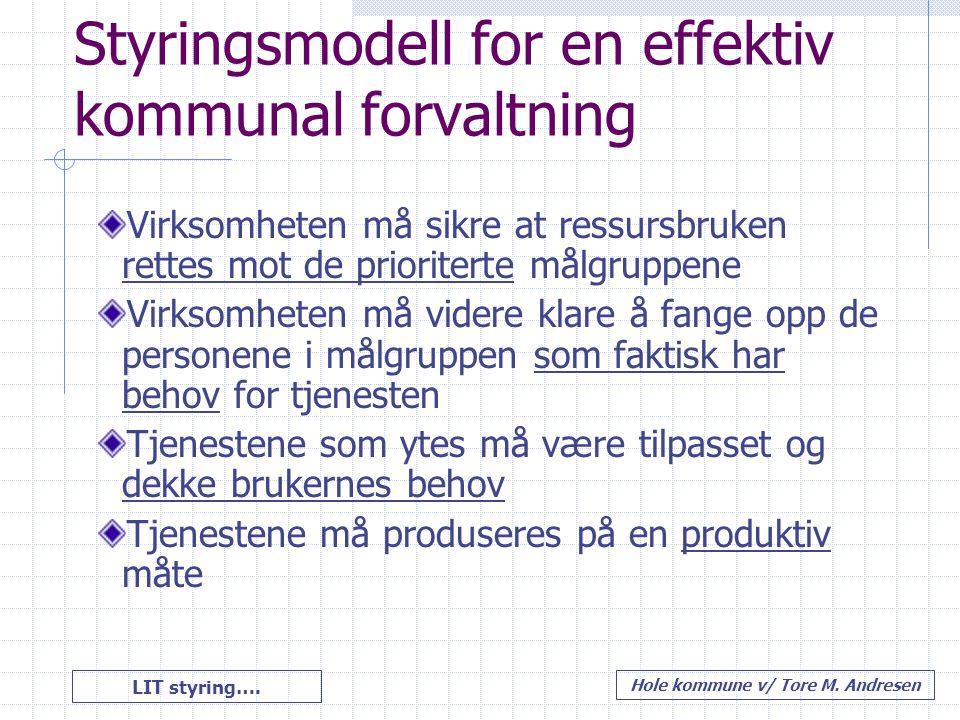 Styringsmodell for en effektiv kommunal forvaltning
