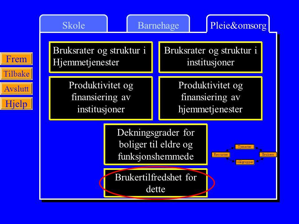 Bruksrater og struktur i Hjemmetjenester