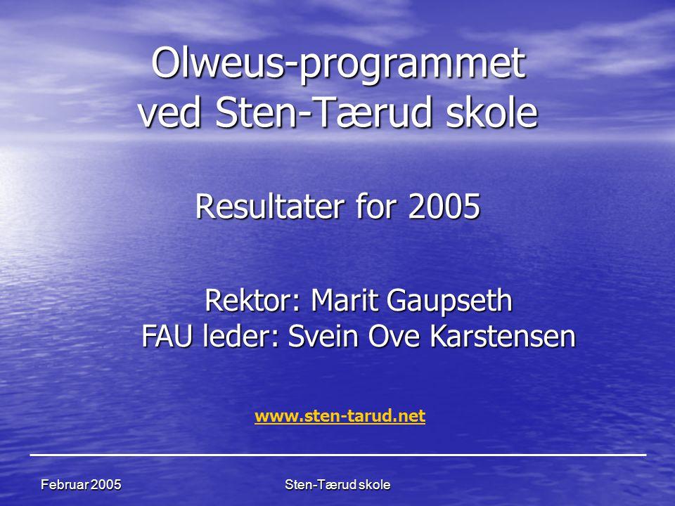 Olweus-programmet ved Sten-Tærud skole