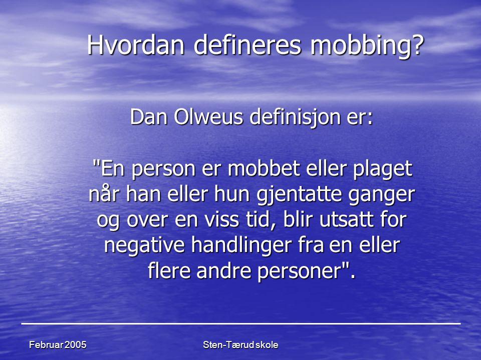 Hvordan defineres mobbing