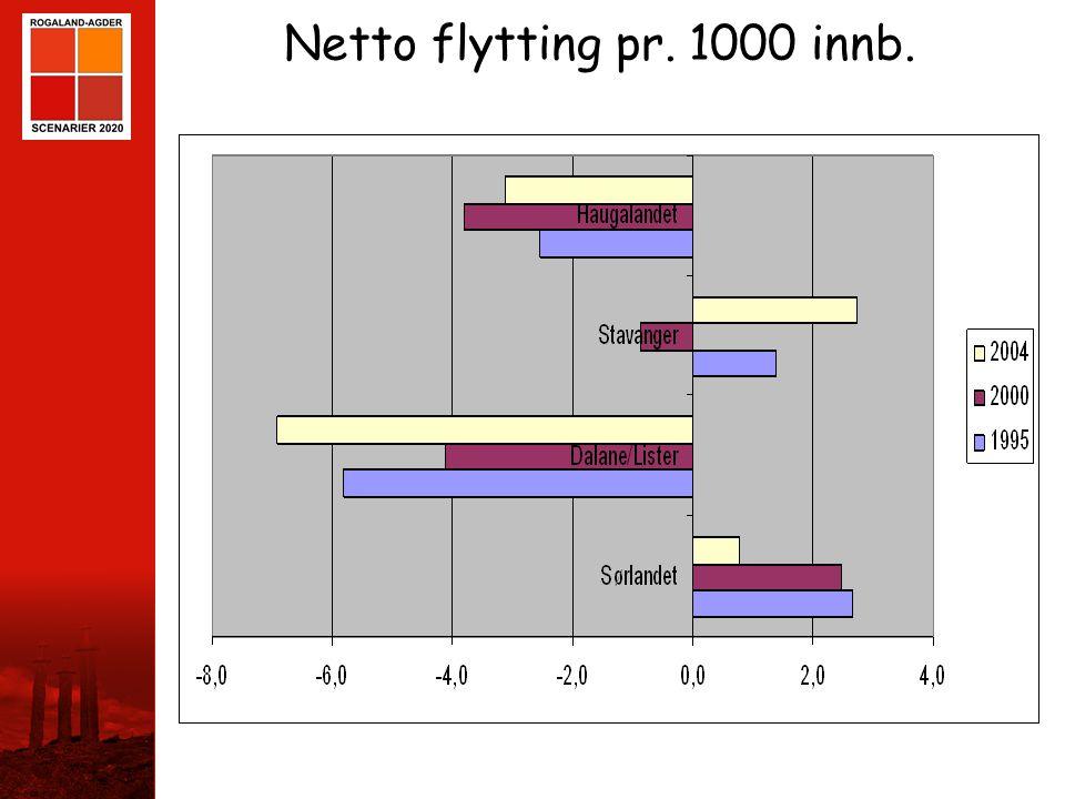 Netto flytting pr. 1000 innb.