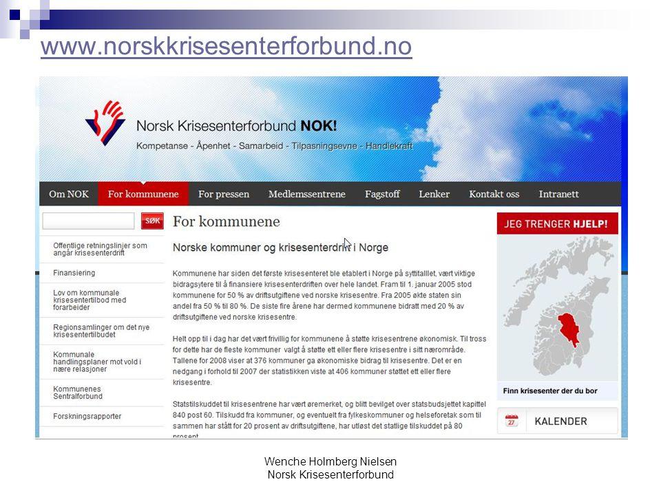 Wenche Holmberg Nielsen Norsk Krisesenterforbund