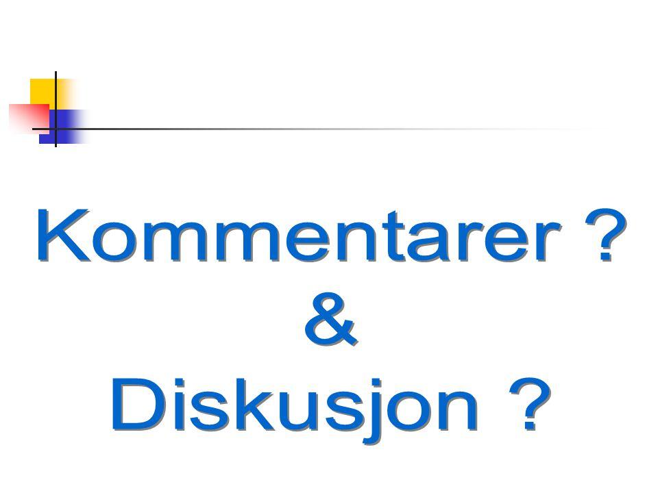 Kommentarer & Diskusjon