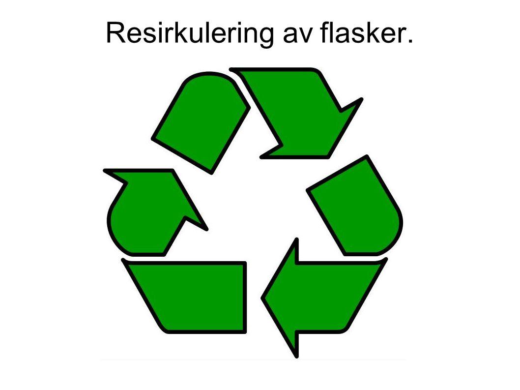 Resirkulering av flasker.