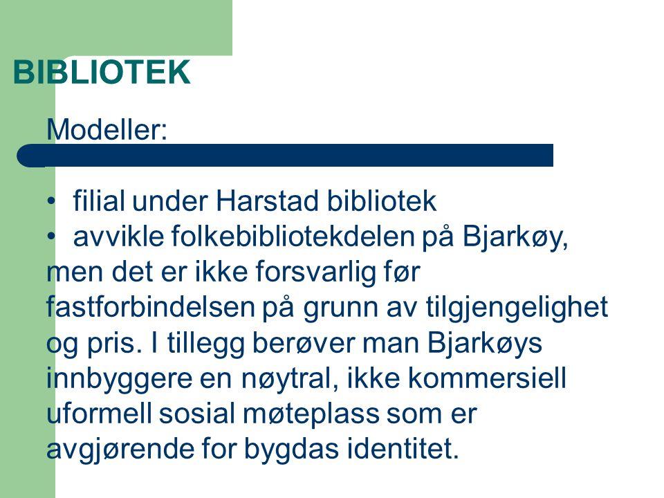BIBLIOTEK Modeller: filial under Harstad bibliotek