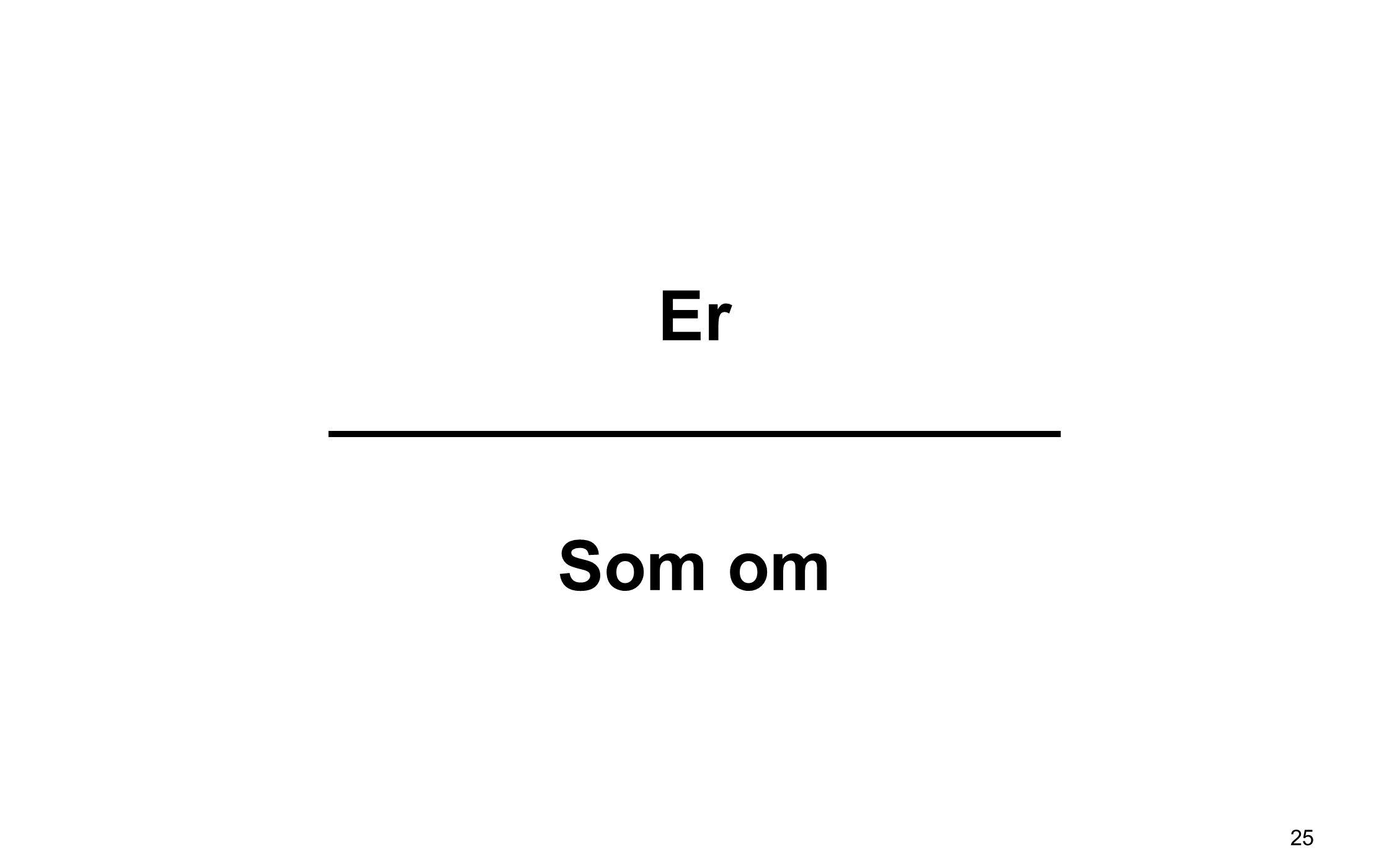 Er ___________________ Som om