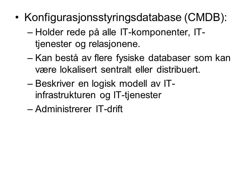 Konfigurasjonsstyringsdatabase (CMDB):