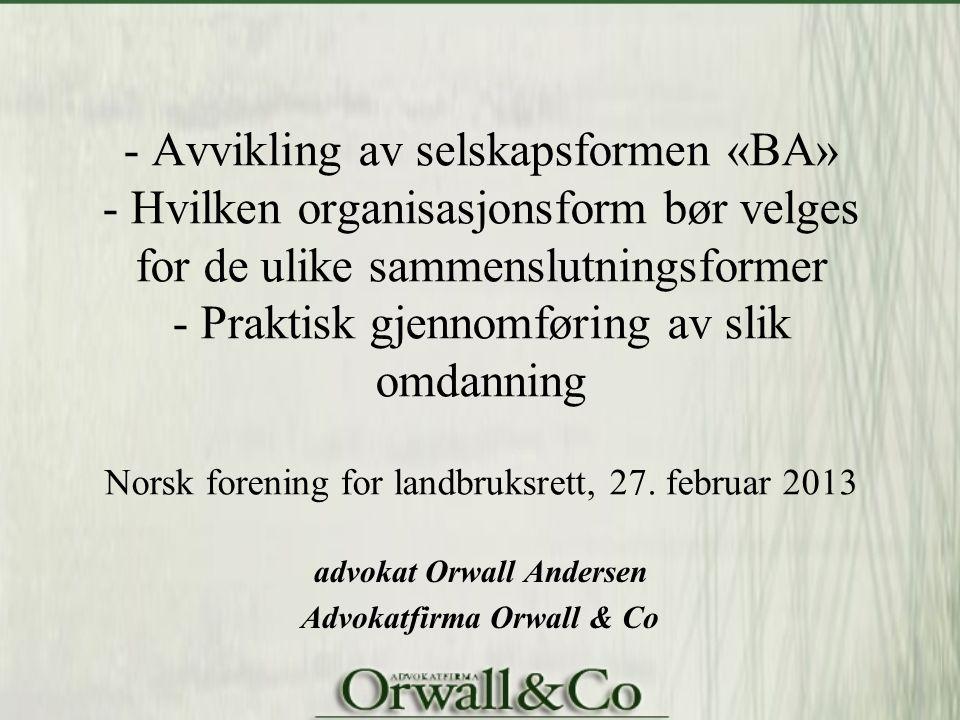 advokat Orwall Andersen Advokatfirma Orwall & Co