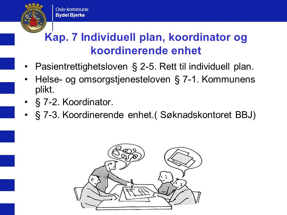 Kap. 7 Individuell plan, koordinator og koordinerende enhet
