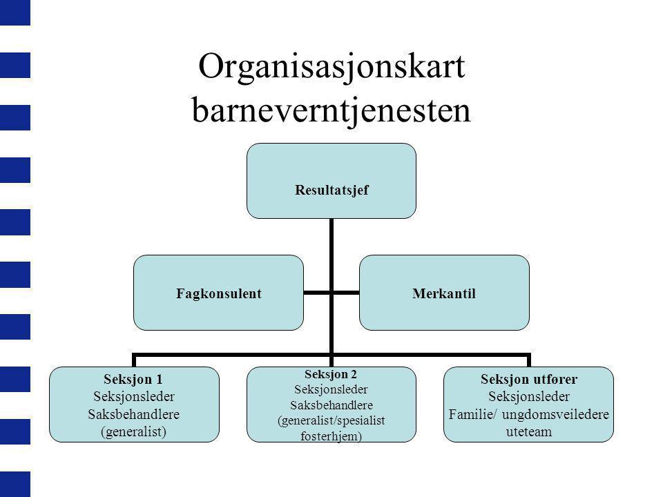Organisasjonskart barneverntjenesten