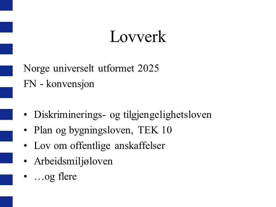 Lovverk Norge universelt utformet 2025 FN - konvensjon