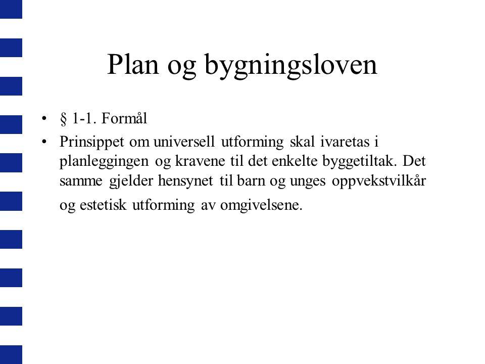 Plan og bygningsloven § 1-1. Formål