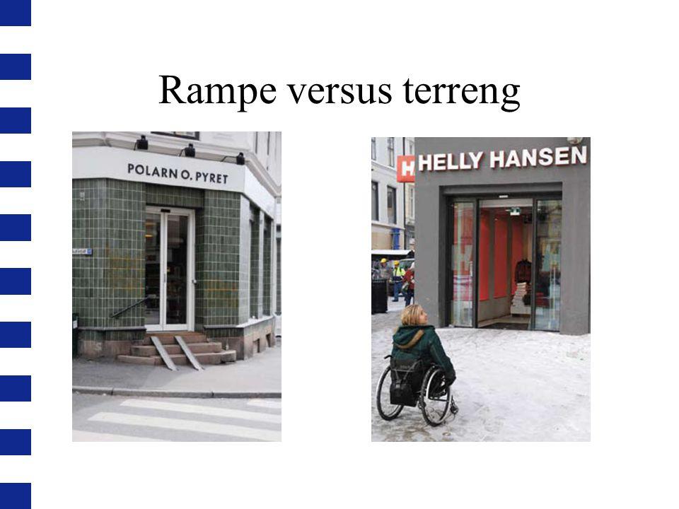 Rampe versus terreng