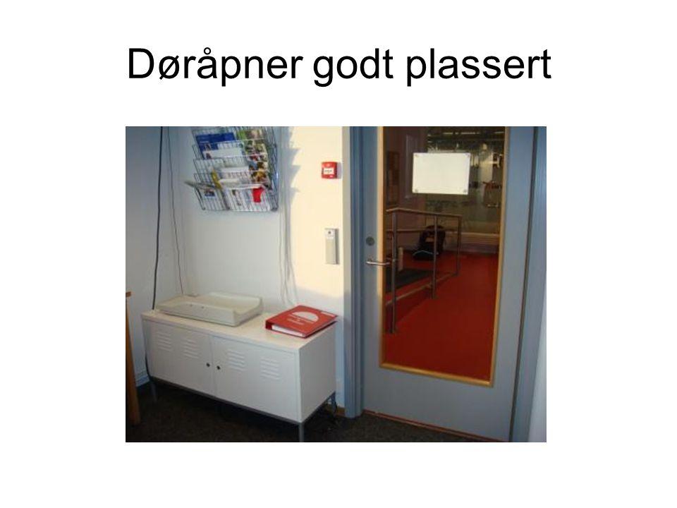 Døråpner godt plassert