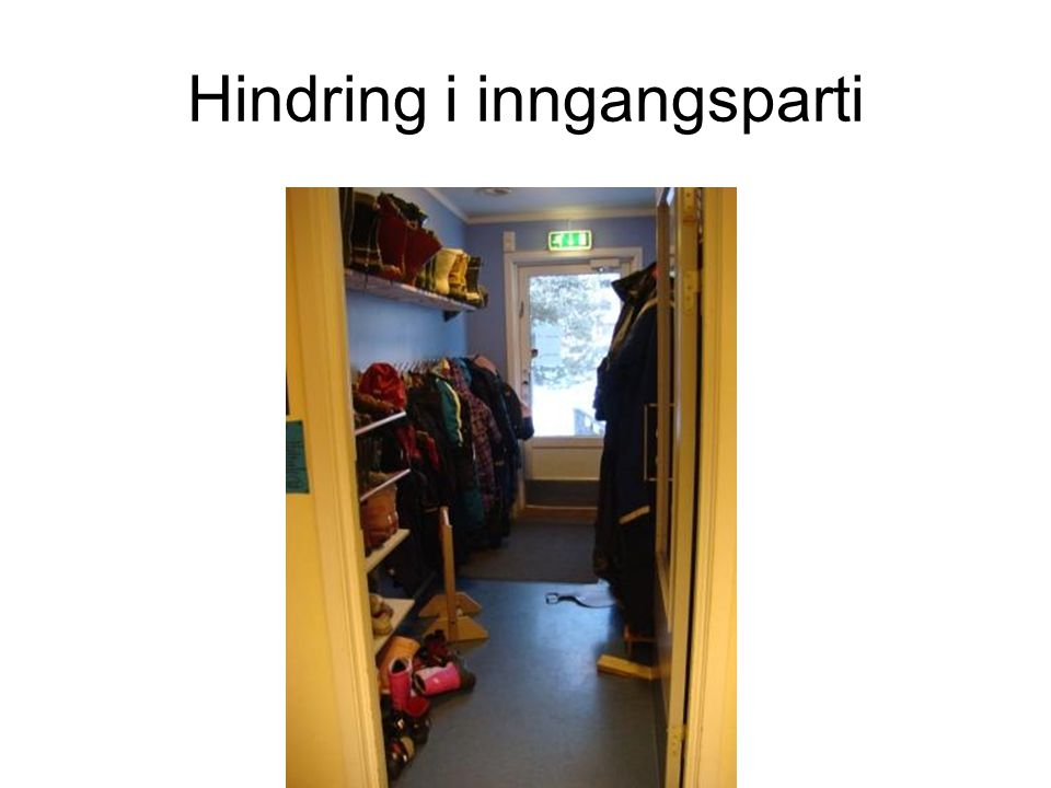 Hindring i inngangsparti
