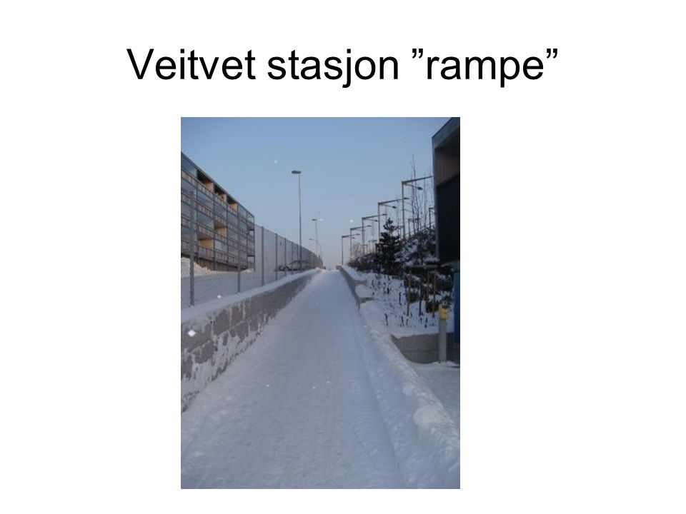 Veitvet stasjon rampe