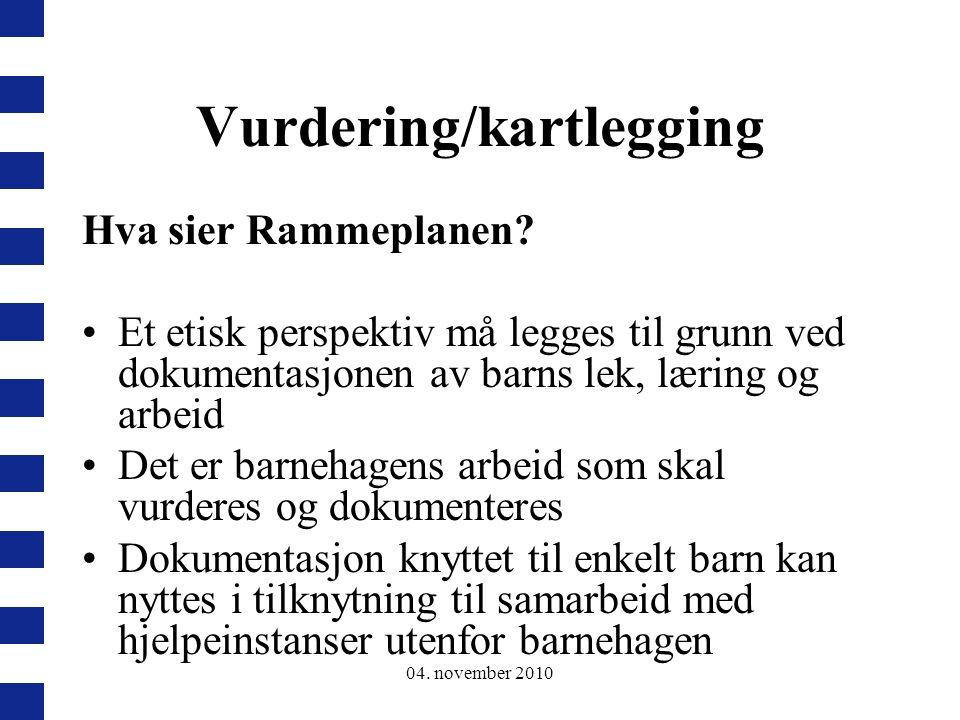 Vurdering/kartlegging