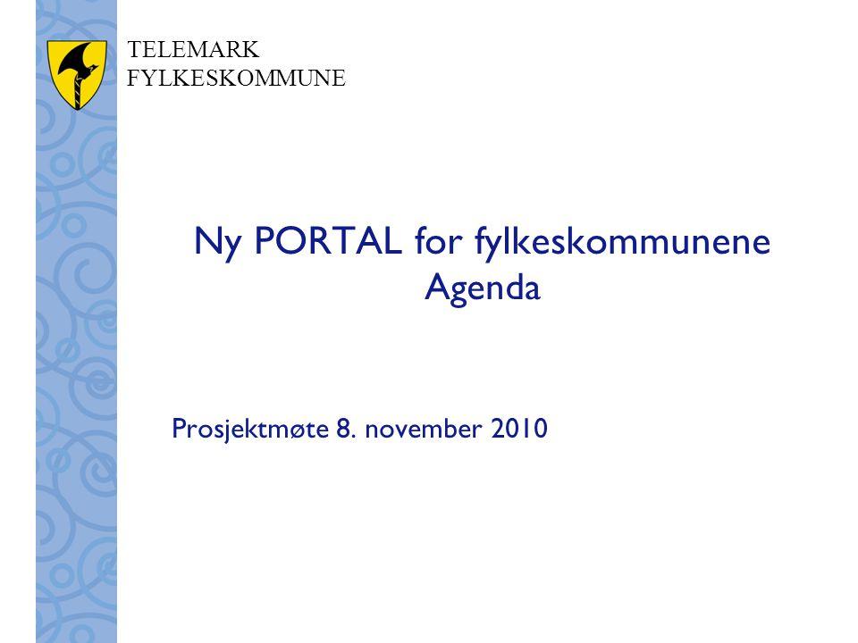 Ny PORTAL for fylkeskommunene Agenda