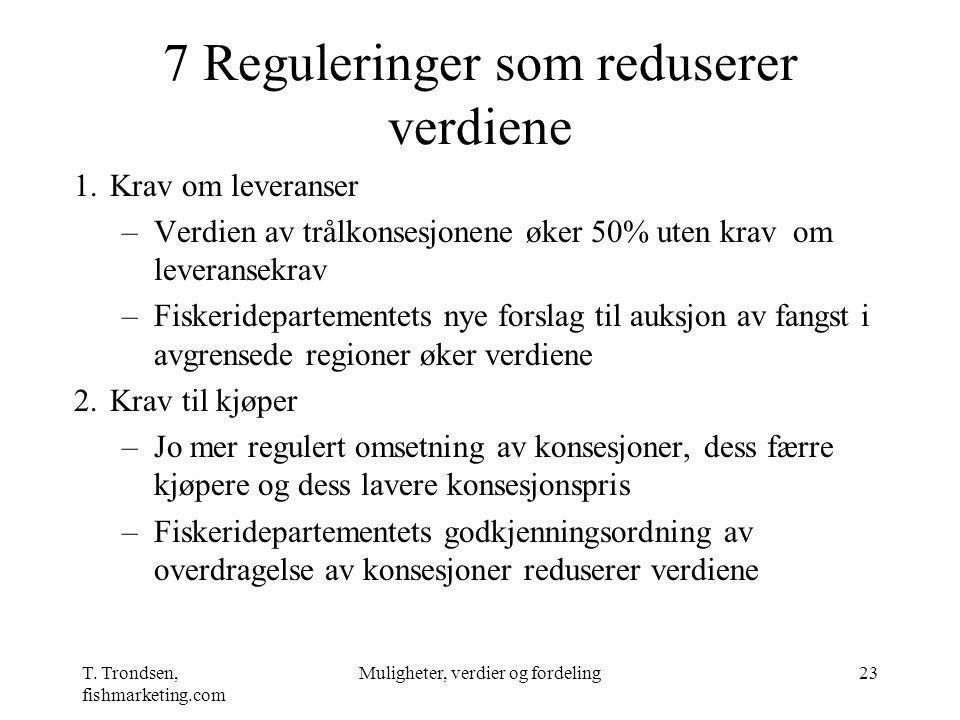 7 Reguleringer som reduserer verdiene