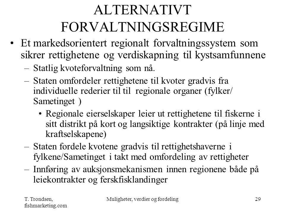 ALTERNATIVT FORVALTNINGSREGIME