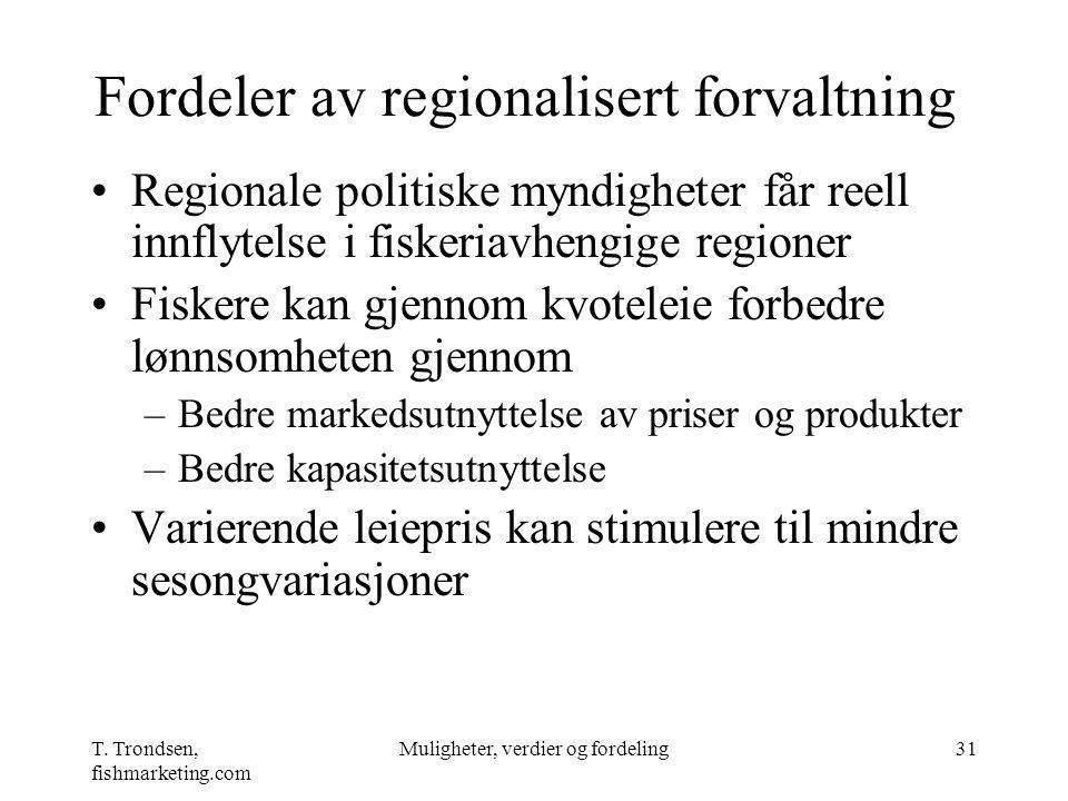 Fordeler av regionalisert forvaltning
