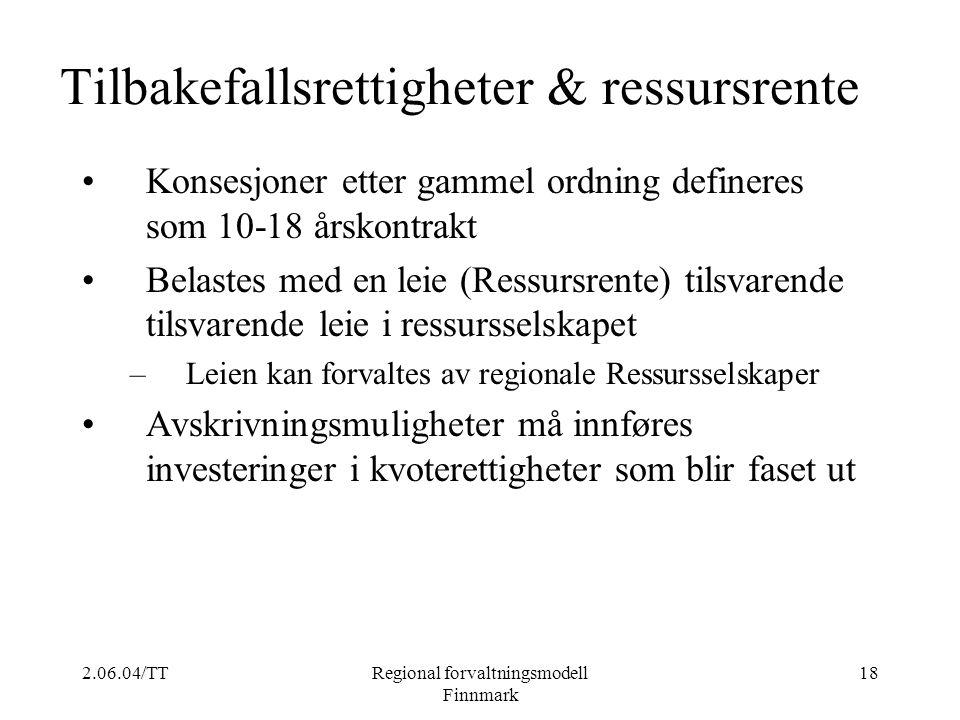 Tilbakefallsrettigheter & ressursrente