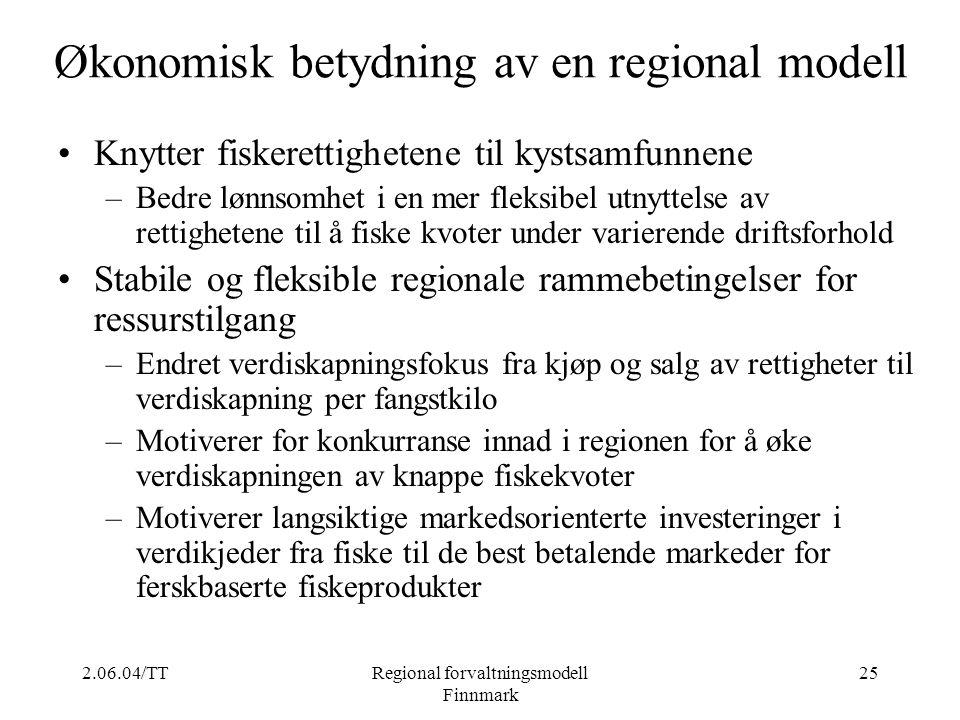 Økonomisk betydning av en regional modell