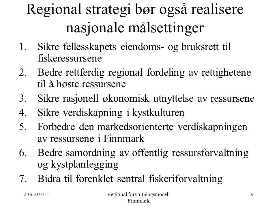 Regional strategi bør også realisere nasjonale målsettinger