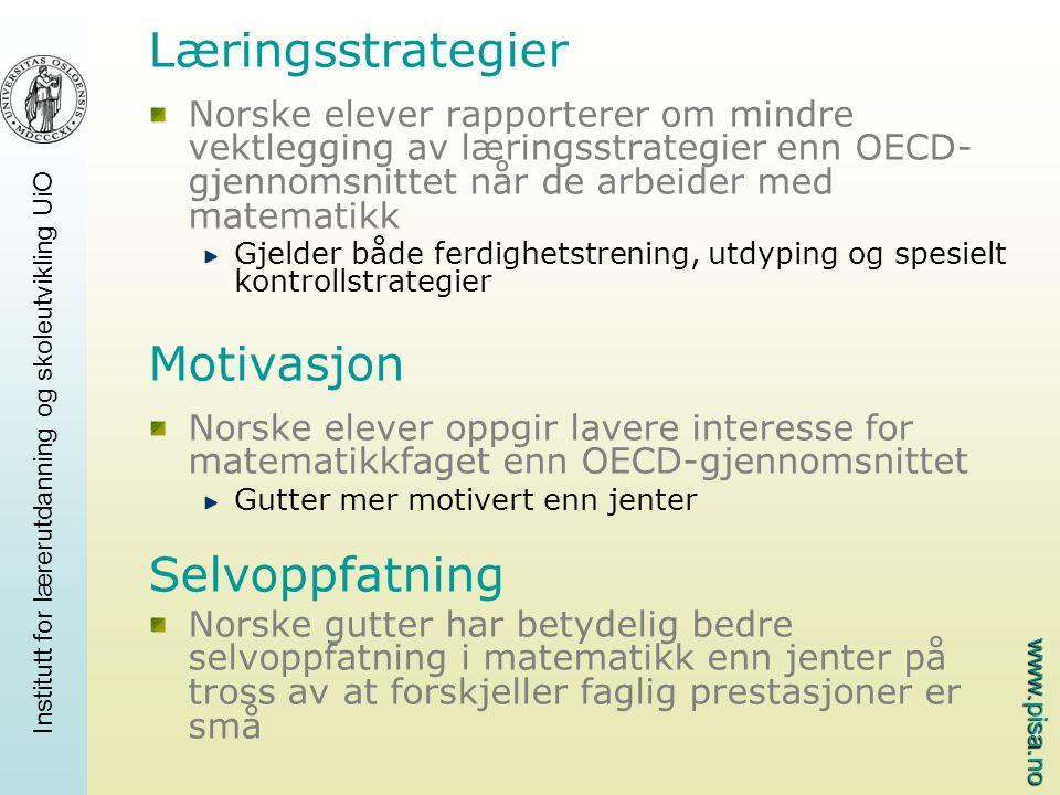 Læringsstrategier Motivasjon Selvoppfatning