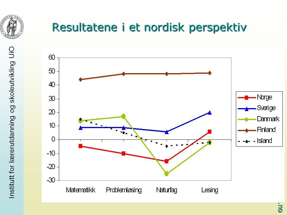 Resultatene i et nordisk perspektiv