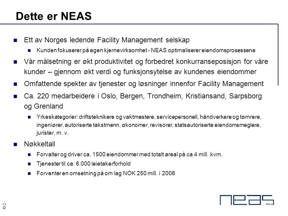 Dette er NEAS Ett av Norges ledende Facility Management selskap