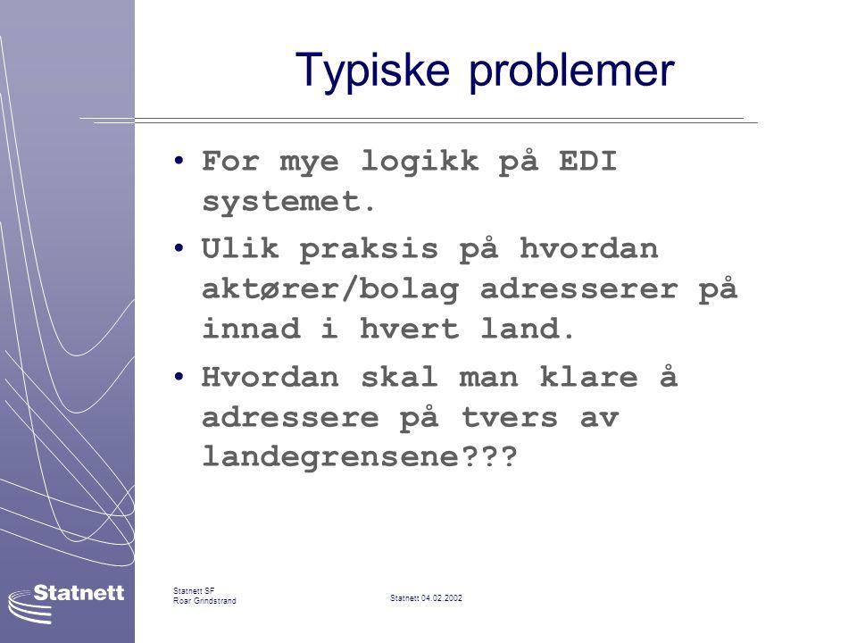 Typiske problemer For mye logikk på EDI systemet.