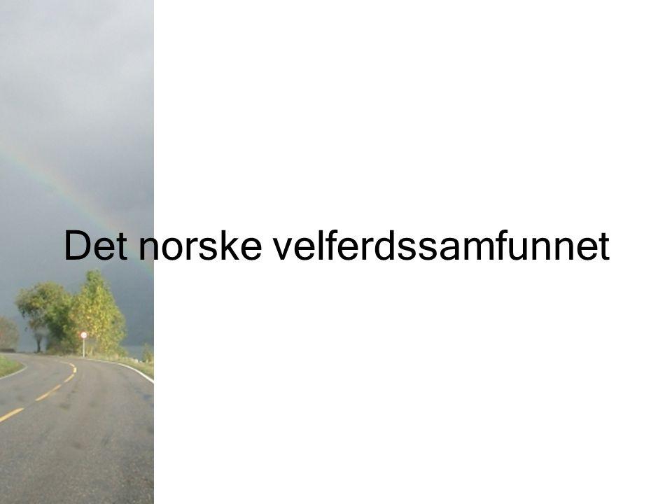 Det norske velferdssamfunnet