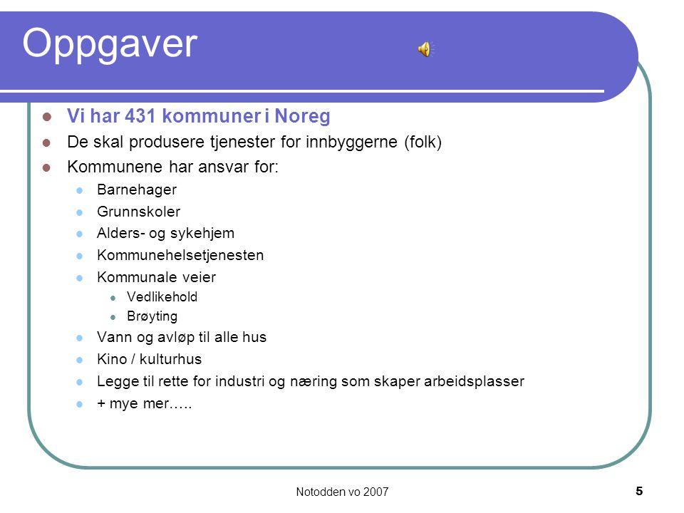 Oppgaver Vi har 431 kommuner i Noreg