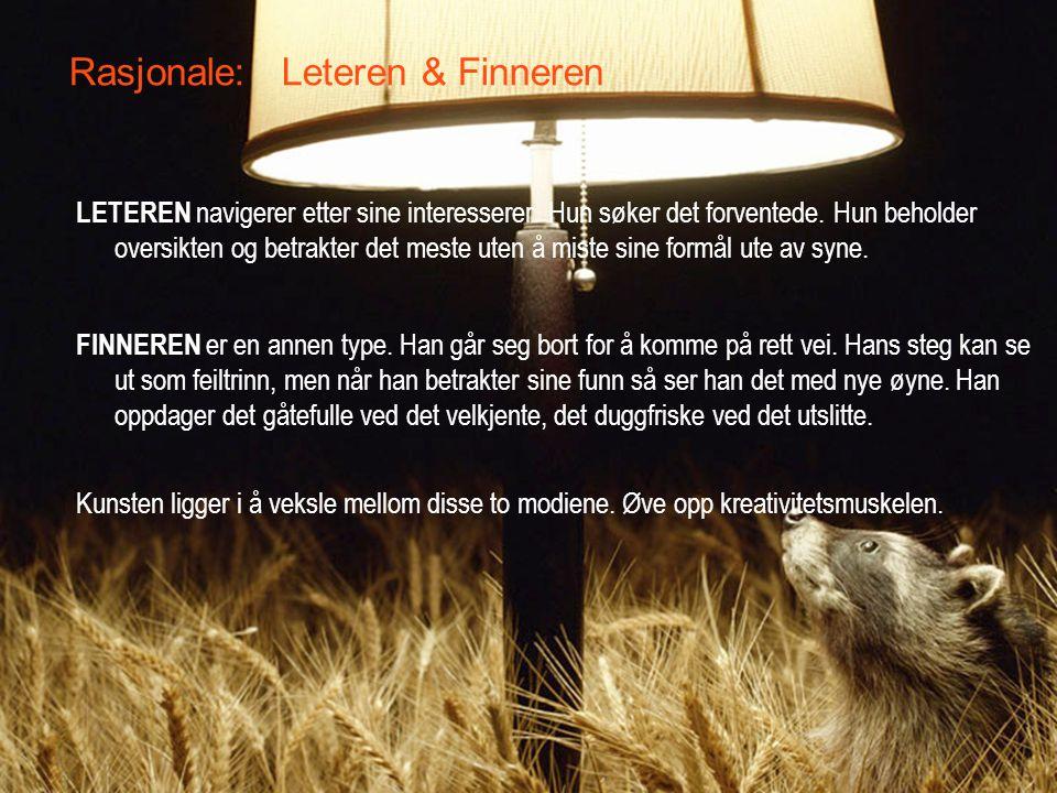 Rasjonale: Leteren & Finneren