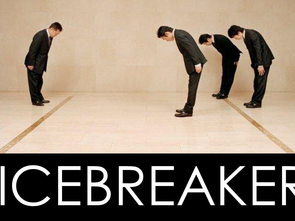 Alle er med på icebreaker inkl oss selv