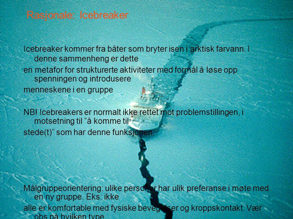 Rasjonale: Icebreaker
