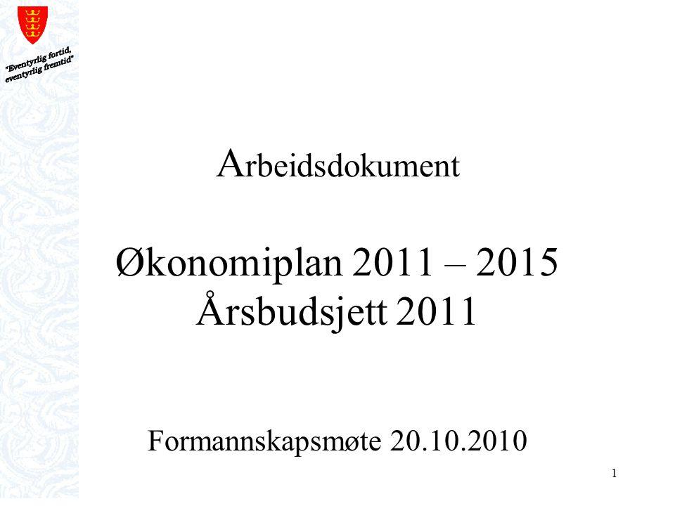 Arbeidsdokument Økonomiplan 2011 – 2015 Årsbudsjett 2011