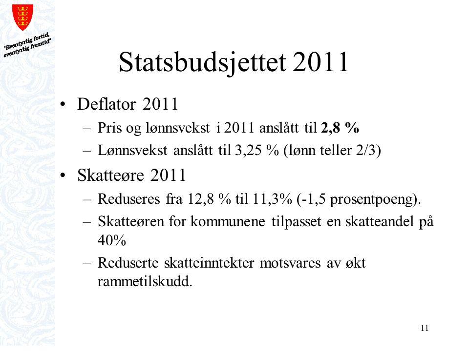 Statsbudsjettet 2011 Deflator 2011 Skatteøre 2011