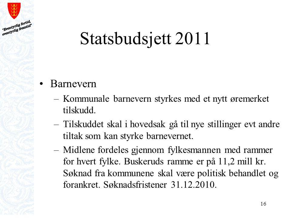 Statsbudsjett 2011 Barnevern