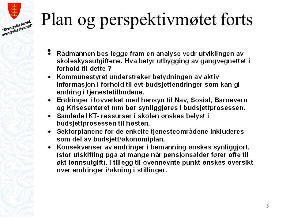 Plan og perspektivmøtet forts