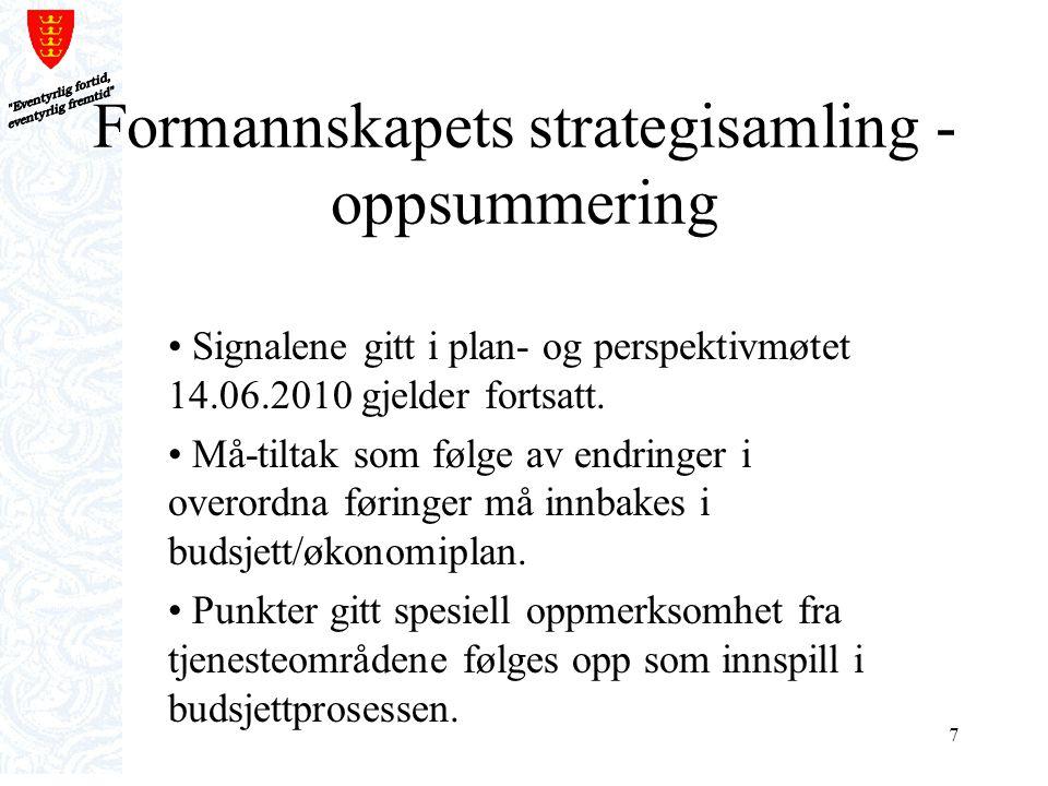 Formannskapets strategisamling - oppsummering