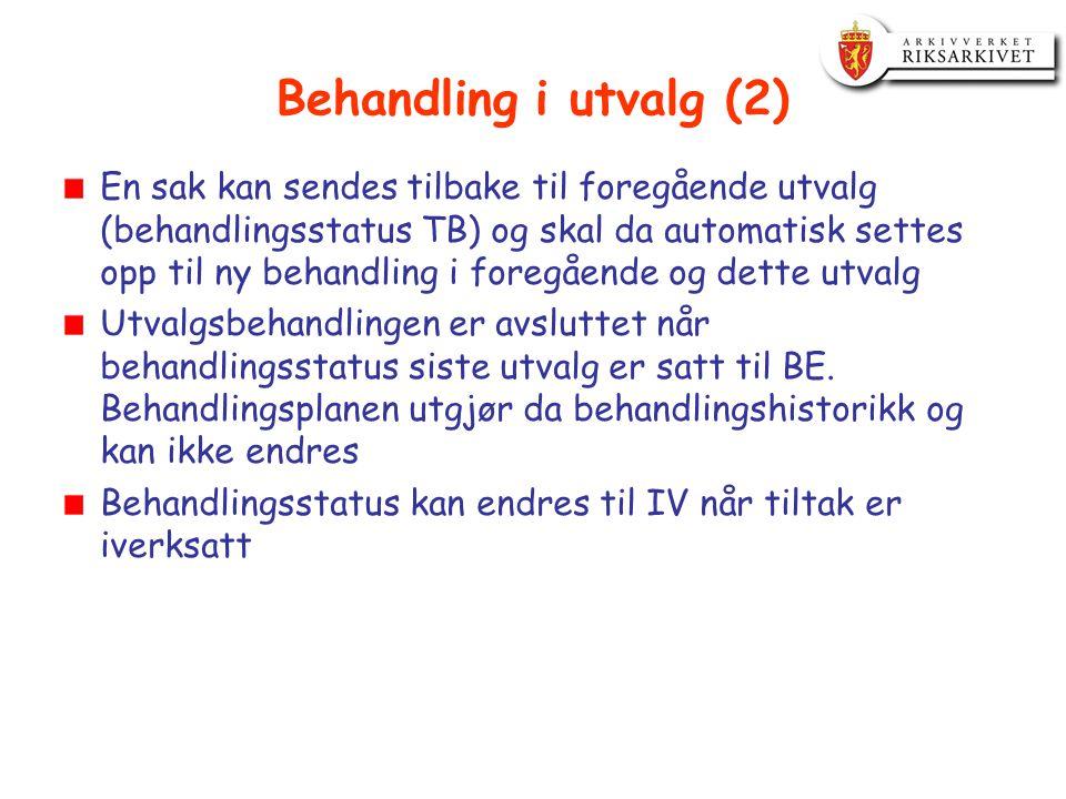 Behandling i utvalg (2)