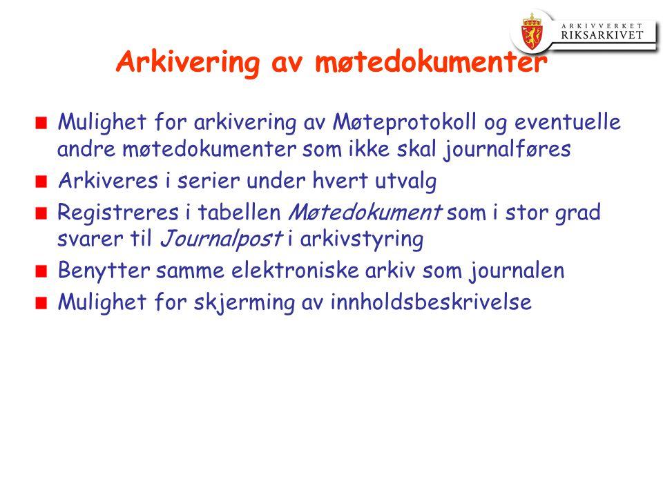 Arkivering av møtedokumenter