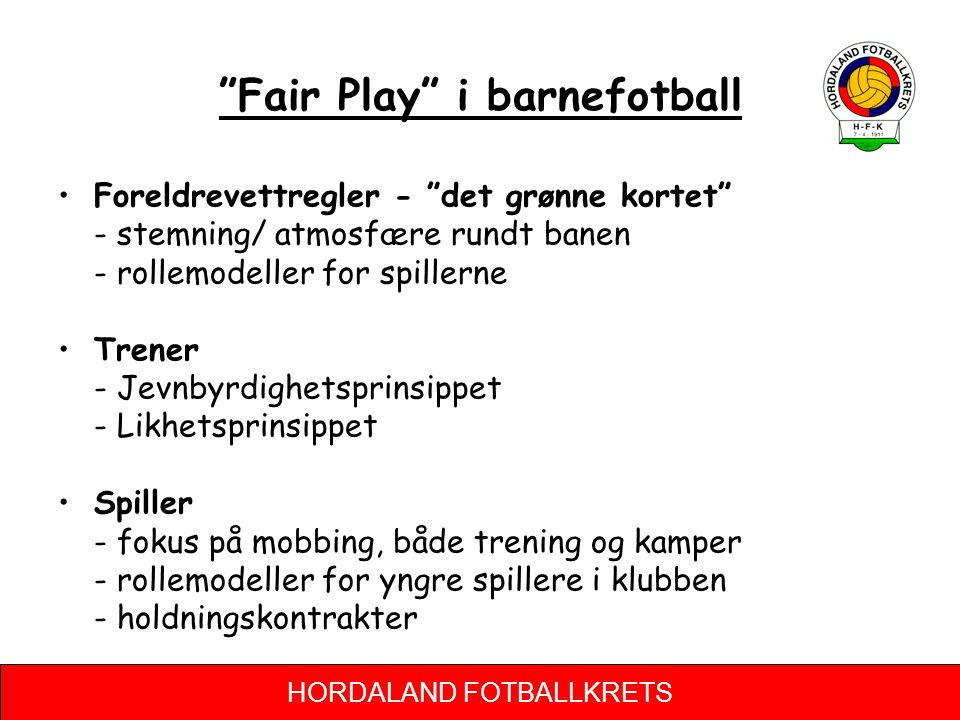 Fair Play i barnefotball