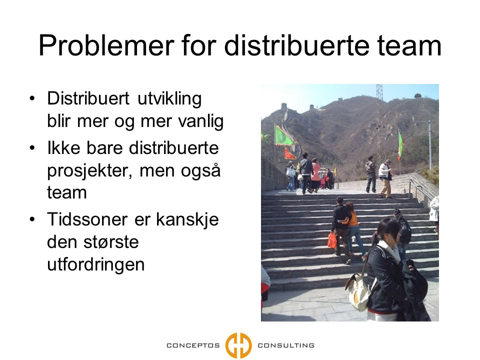 Problemer for distribuerte team