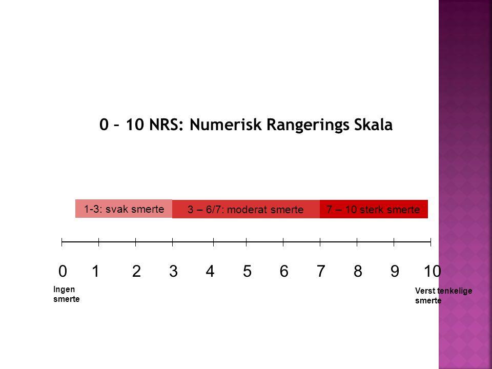 0 – 10 NRS: Numerisk Rangerings Skala